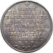¼ Thaler - Franz Ludwig von Pfalz-Neuburg (Mort) – revers