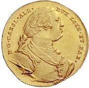 1 Ducat - Carl Alexander von Lothringen – avers