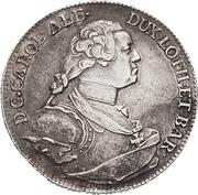½ Thaler - Karl Alexander von Lothringen – avers