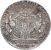 ½ Thaler - Karl Alexander von Lothringen – revers