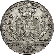 1 Thaler - Karl Alexander von Lothringen (Konventionstaler) – revers