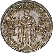 Thaler Teutonic Order 1603 Grandmaster Maximilian of Austria – avers