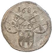 3 pfennig Johann Caspar von Ampringen – avers