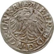 1 Groschen - Albrecht von Hohenzollern – avers