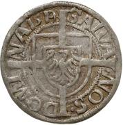 1 Groschen - Albrecht von Hohenzollern – revers