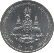 2 baht (anniversaire du règne) – revers