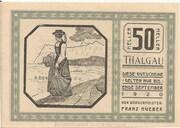 50 Heller (Thalgau) -  avers