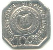 10 Centimes - Ville de Thann - Alsace française [68] – revers