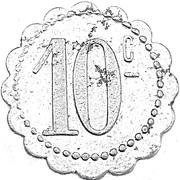 10 centimes Société Coopérative de Thaon  [88] -  revers