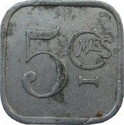 5 centimes Société Coopérative de Thaon [88] -  revers