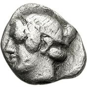 Hemiobol (Thasos) – avers