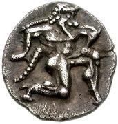 Diobol (Thasos) – avers