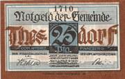 25 Pfennig (Thesdorf ) – avers