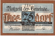 75 Pfennig (Thesdorf ) – avers