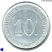 10 Centimes Union des Commerçants de Thiviers [24] – revers