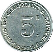 5 Centimes - Union des Commerçants de Thiviers [24] – avers