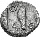 Obol (Thronion) – revers