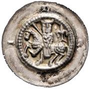 1 brakteat Hermann II – avers