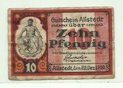 10 Pfennig (Allstedt, Stadt) – avers