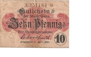 10 Pfennig (Gera) – avers
