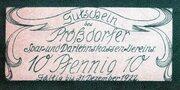 10 Pfennig (Prößdorf; Prößdorfer Spar- und Darlehnskassen-Verein) – revers