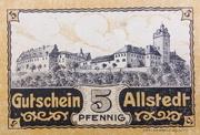 5 Pfennig (Allstedt) – revers