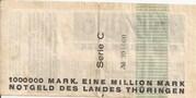 1,000,000 Mark (Thüringische Staatsbank)) – revers