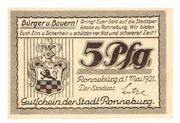 5 Pfennig (Ronneburg) – avers