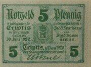 5 Pfennig Triptis – avers