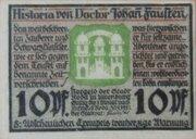 10 Pfennig Roda/Stadtroda – avers