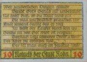 10 Pfennig Roda/Stadtroda – revers