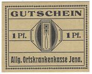 1 Pfennig (Jena) – avers