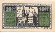 10 Pfennig (Eisenberg in Thüringen) – avers