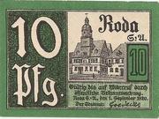 10 Pfennig (Roda/Stadtroda) – avers