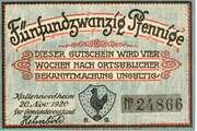 25 Pfennig (Kaltennordheim) – avers
