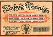 50 Pfennig (Kaltennordheim) – avers