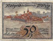 50 Pfennig (Pölzig) – avers