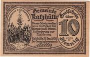 10 Pfennig (Katzhütte) – avers