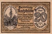 20 Pfennig (Katzhütte) – avers