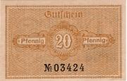 20 Pfennig (Katzhütte) – revers