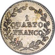 1 quatrième franc – revers