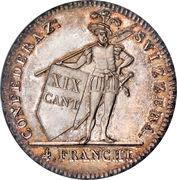 4 francs – revers