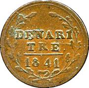 3 denari – revers