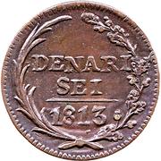 6 denari – revers