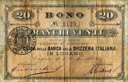 20 francs (Banca della Svizzera Italiana) -  avers