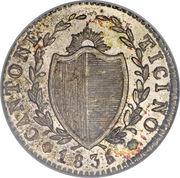 1 quatrième franc – avers
