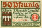 50 Pfennig (Tiegenhof) – avers