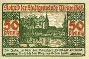 50 Pfennig (Tiegenhof) – revers