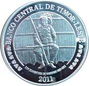 100 centavos Boaventura de Manufahi (argent) – avers