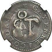 1½ pence (Black Dog) – revers